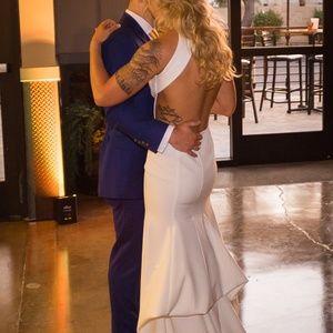 Sarah Seven Orleans Wedding Dress w/Belmont Train